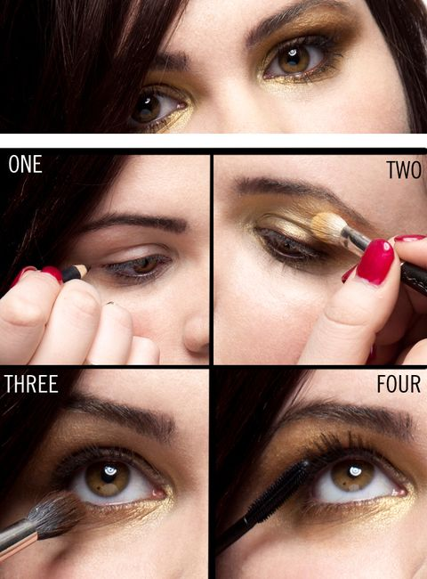 4 Steps To A Gold Smokey Eye Beauty Tips And Makeup Application