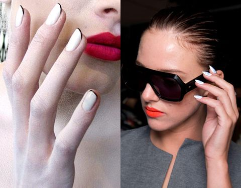 how to wear white nail polish pastel nail trend spring 2014 beauty