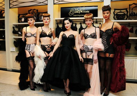 a8031bb08f4 Burlesque dancer extraordinaire and all round sex pot Dita Von Teese knows  a thing or two about lingerie. Not only does she wear it for a living