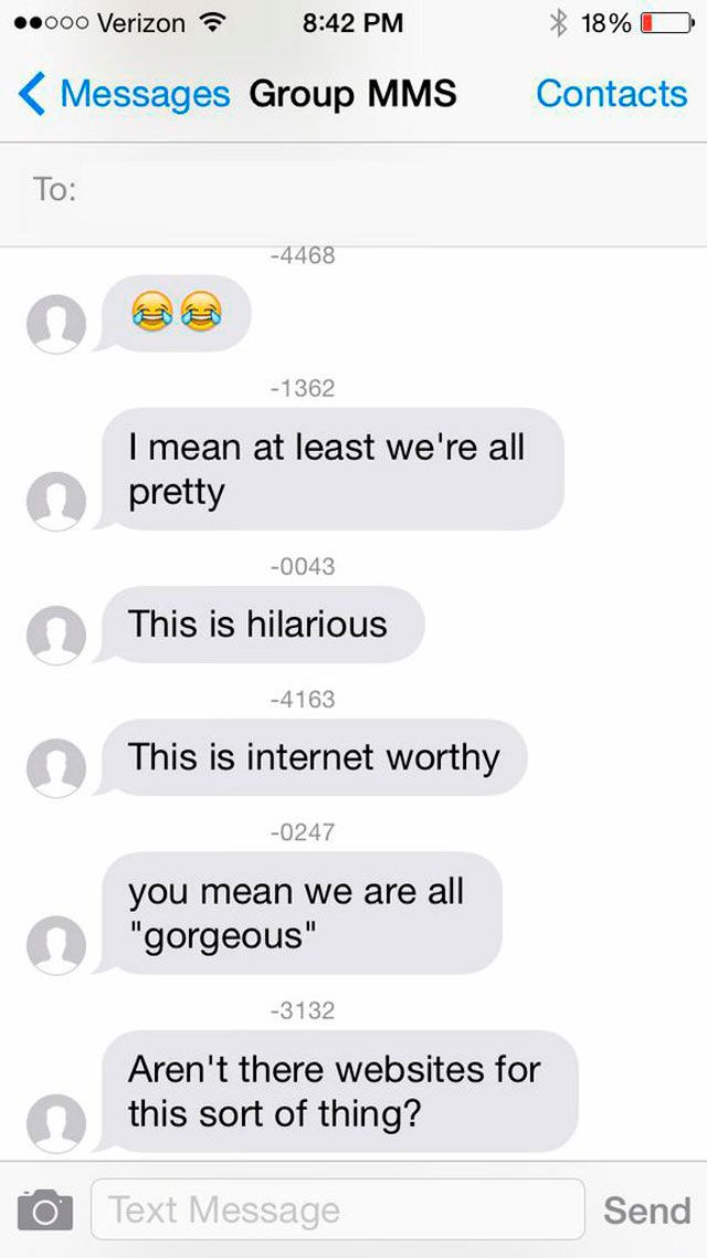 Tinder group message
