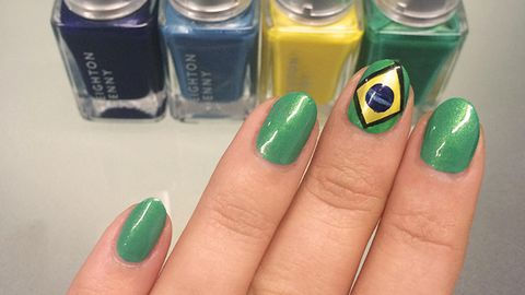 The Easiest World Cup Nail Art Brazil Flag Manicure Tutorial