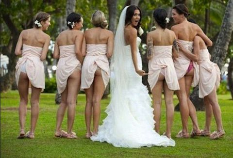 fa0fe1f8d96 The new wedding trend  bridesmaids flashing bums