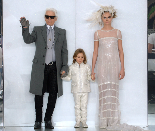 Cara Delevingne Wears Chanel Wedding Dress Paris Fashion Week News