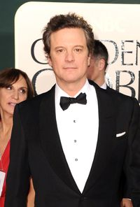 Actor-of-the-moment Colin Firth arrives at the 68th Golden Globes in California looking beautifully polished and ready for some awards...