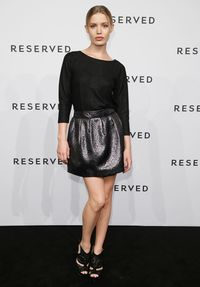 <p>Over in Germany, model Georgia May Jagger looked gorgeous on the red carpet wearing a simple, long-sleeved black top and metallic skirt.</p>