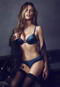 <p>This petrol blue set, (Mollie bra, £12, brazillian, £12), is not only sexy and stylish but the smooth cup means it's a great everyday choice, too.</p>