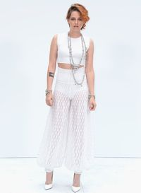 """<p>Has Kristen ever looked this cool before? No. Never. Ever.</p><p>The Twilight actress not only debuted a brand new crop, but also showed off her fashion prowess in an all-white Chanel ensemble.</p><p>K-Stew's ribbed white crop top and sheer trousers made her look every inch a star, with her quirky crop and Chanel jewellery completing the look.</p><p><a href=""""http://www.cosmopolitan.co.uk/fashion/celebrity/celebrity-style-gallery"""">THIS WEEK'S BEST CELEBRITY STYLE</a></p><p><a href=""""http://www.cosmopolitan.co.uk/fashion/news/paris-fashion-week-versace"""" target=""""_blank"""">J.LO STUNS IN SILVER AT VERSACE</a></p><p><a href=""""http://www.cosmopolitan.co.uk/fashion/shopping/celebrity-weddings-1"""" target=""""_blank"""">AMAZING ALTERNATIVE CELEBRITY BRIDAL LOOKS</a></p>"""