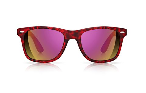 "<p><a href=""http://www.sunglassjunkie.com/mens-sunglasses-c1/sunglass-junkie-unisex-red-festival-wayfarer-mirrored-sunglasses-p87"" target=""_blank"">Red festival wayfarer mirrored sunglasses, £18, sunglassjunkie.com</a></p> <p> </p>"
