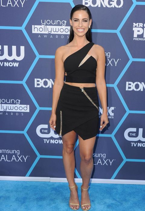 "<p>Jessica Lowndes rocked one of our fave brands at the Young Hollywood awards in her Three Floor cutaway dress. The star ramped up the glam factor with slicked-back hair and super-smokey eyes.</p> <p><a href=""http://www.cosmopolitan.co.uk/fashion/celebrity/celebrity-style-watch-july-20142"" target=""_blank"">CELEBRITY STYLE WATCH: THIS WEEK'S BEST DRESSED</a></p> <p><a href=""http://www.cosmopolitan.co.uk/fashion/celebrity/kelly-osbourne-dresses-young-hollywood"" target=""_blank"">KELLY O WEARS FOUR OUTFITS IN ONE NIGHT</a></p> <p><a href=""http://www.cosmopolitan.co.uk/fashion/celebrity/kim-kardashian-style-outfits"" target=""_blank"">KIM KARDASHIAN'S GREATEST EVER OUTFITS</a></p>"