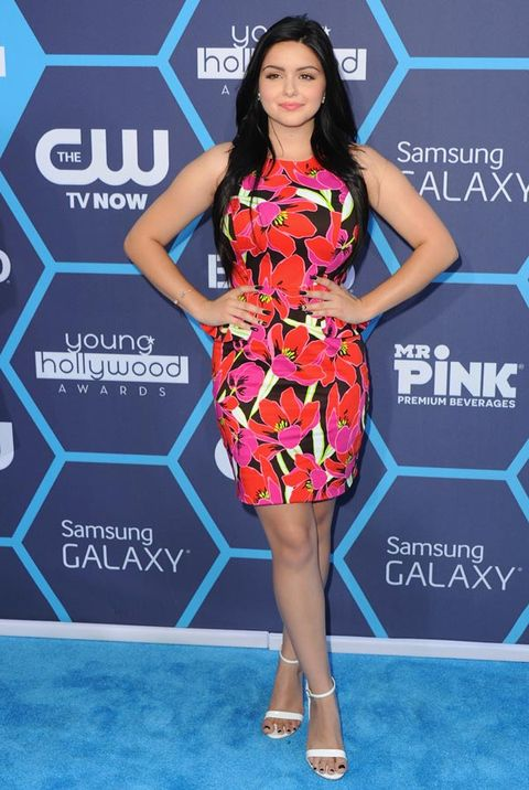 "<p>Modern Family's Ariel Winter looked old beyond her years in this pink dress - we certainly couldn't imagine her character Alex Dunphy picking out something so feminine and floral.</p> <p><a href=""http://www.cosmopolitan.co.uk/fashion/celebrity/celebrity-style-watch-july-20142"" target=""_blank"">CELEBRITY STYLE WATCH: THIS WEEK'S BEST DRESSED</a></p> <p><a href=""http://www.cosmopolitan.co.uk/fashion/celebrity/kelly-osbourne-dresses-young-hollywood"" target=""_blank"">KELLY O WEARS FOUR OUTFITS IN ONE NIGHT</a></p> <p><a href=""http://www.cosmopolitan.co.uk/fashion/celebrity/kim-kardashian-style-outfits"" target=""_blank"">KIM KARDASHIAN'S GREATEST EVER OUTFITS</a></p>"