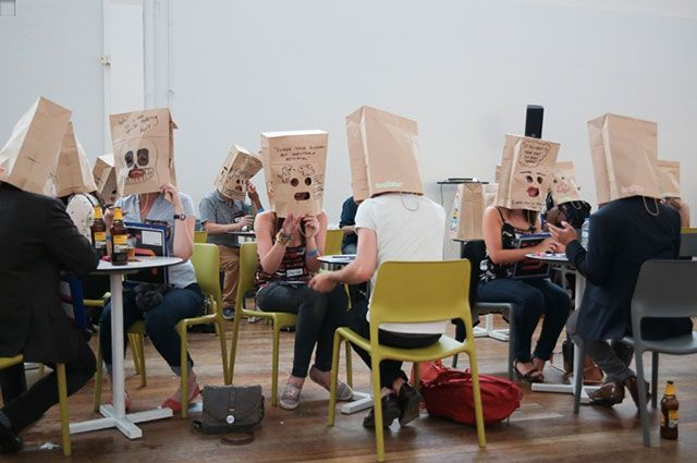 Dating with paper bags