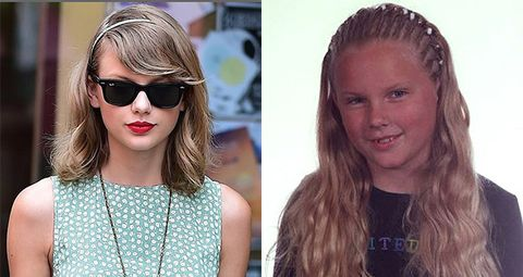 "Taylor Swift\'s ""tragic"" high school photo of cornrows hairstyle"