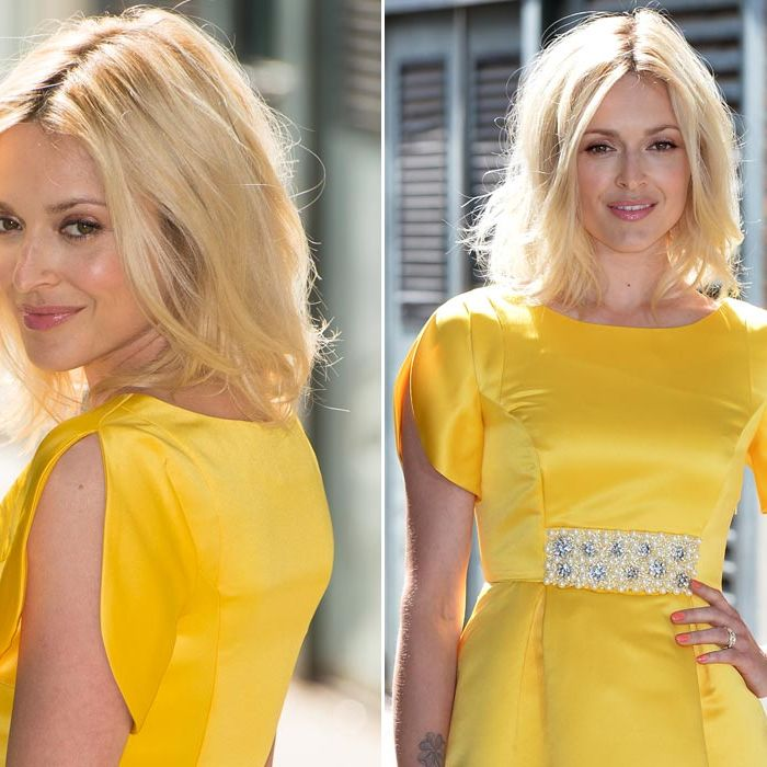<p>Oh Fearne you bright ray of summer you! If anyone is going to persuade us that yes, we could look good in yellow too, you are the gal.</p>