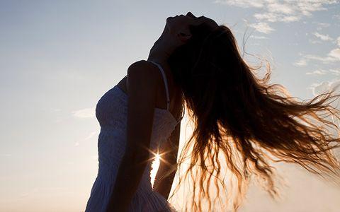 People in nature, Sunlight, Backlighting, Summer, Light, Sun, Back, Beauty, Long hair, Heat,