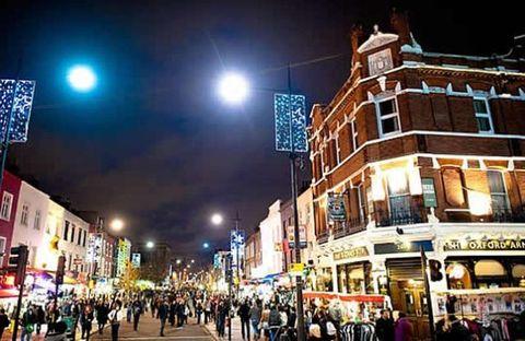 Night, Lighting, Road, Town, City, Infrastructure, Street, Public space, Urban area, Metropolitan area,