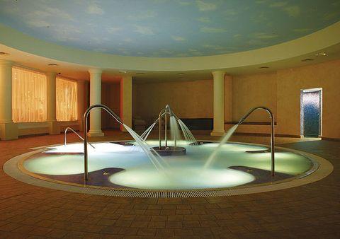 Property, Interior design, Floor, Fountain, Ceiling, Art, Water feature, Design, Tourist attraction,