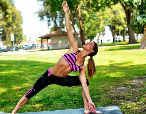 Leg, Human leg, Sportswear, Shoulder, Exercise, Joint, Tree, Active pants, Elbow, Waist,