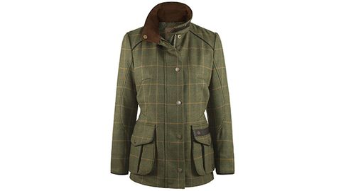 Keep warm and dry on long walks with this waterproof Marlfield ladies tweed jacket, £499, Dubarry