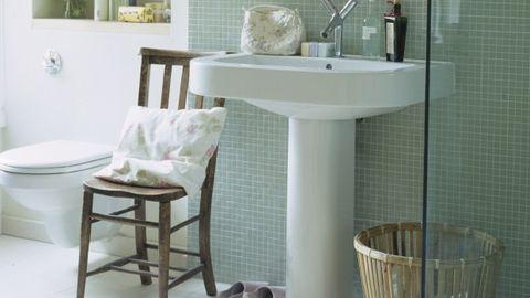 Product, Room, Property, Floor, Plumbing fixture, Interior design, Tile, Turquoise, Composite material, Plumbing,