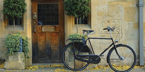 Take a leisurely ride along all terrains from cobblestone pavements to country tracks on this double-sprung leather saddle classic Roadster bicycle, from £695, Pashley