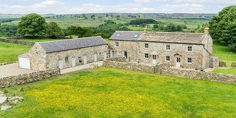 Land lot, House, Rural area, Village, Cottage, Cumulus, Roof, Farmhouse, Paint, Meadow,