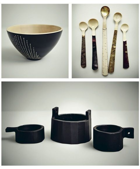Dishware, Serveware, Kitchen utensil, Cutlery, Tableware, Spoon, Natural material, Still life photography, Ceramic, Pottery,