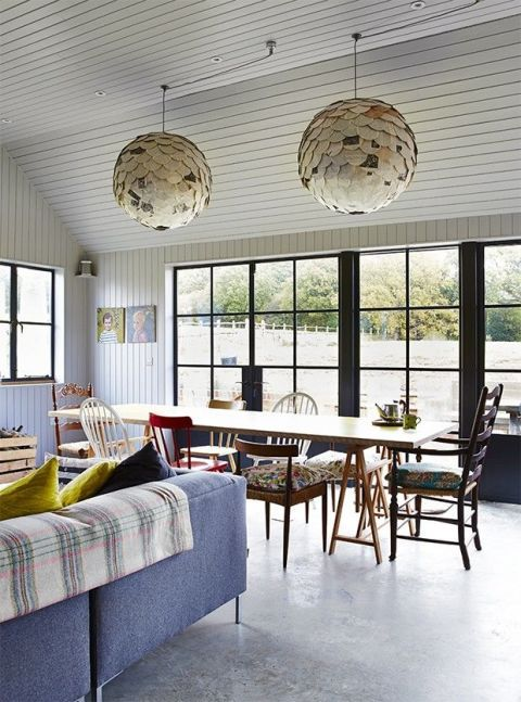 Room, Window, Interior design, Furniture, Table, Light fixture, Ceiling, Ceiling fixture, Floor, Glass,