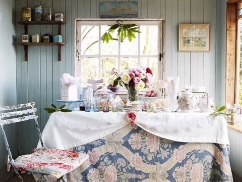 Set the scene for a country afternoon tea party & Set the scene for a country tea party - Afternoon tea table setting ...