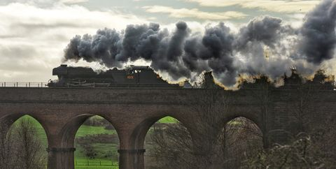 flying scotsman steams over viaduct