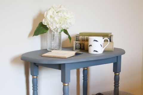 Upcycled painted blue table