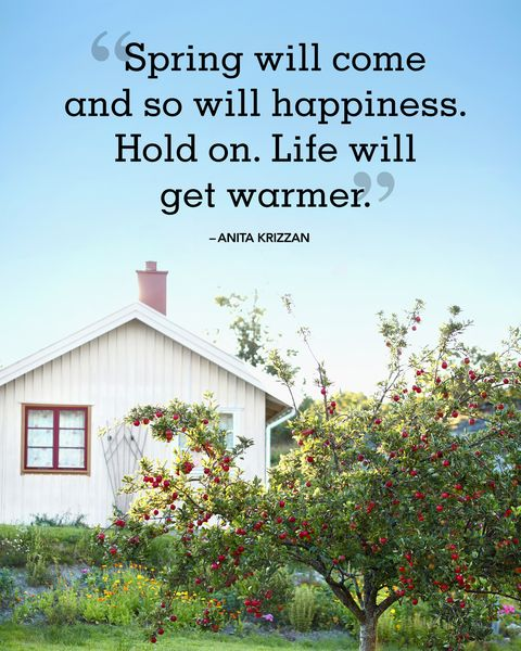 """<p>""""Spring will come and so will happiness. Hold on. Life will get warmer."""" </p>"""