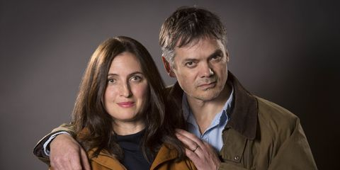 Helen Archer and Rob from the archers