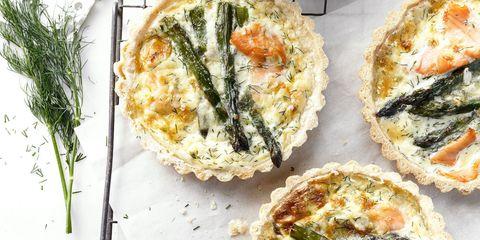 salmon asparagus tart