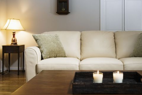 Room, Lighting, Interior design, Furniture, Table, Wall, Floor, White, Living room, Couch,