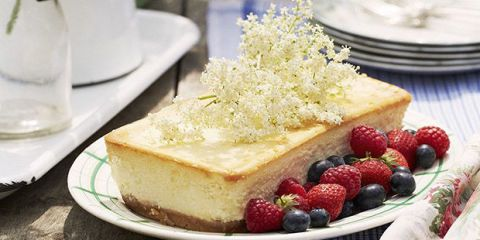 elderflower cheesecake dessert
