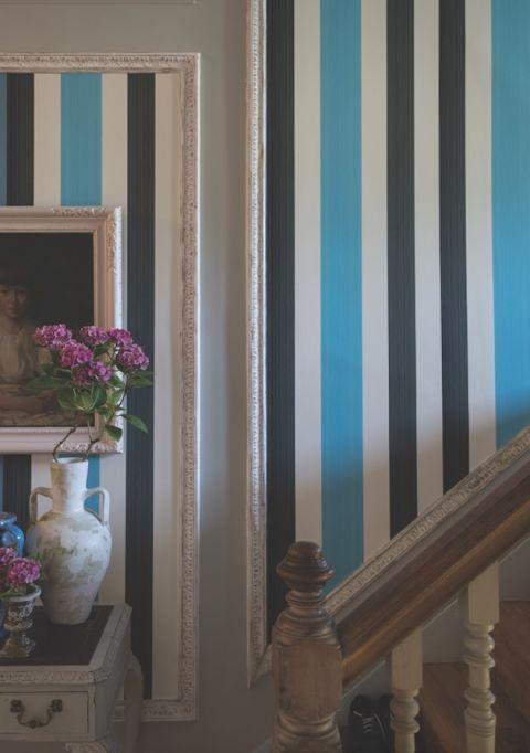 Farrow & Ball striped wallpaper