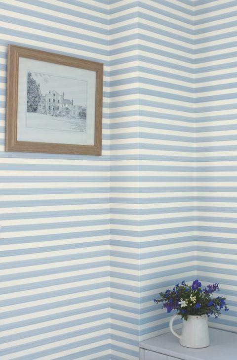 Closet stripe wallpaper, Farrow & Ball