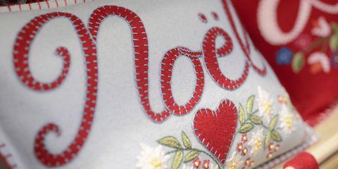 christmas fair london pillow noel