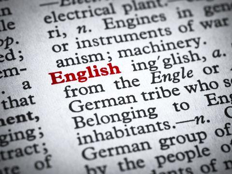 english dictionary word