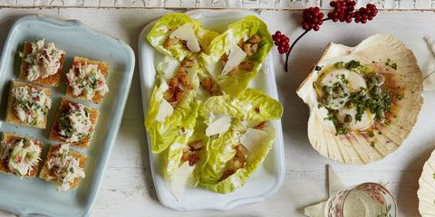 christmas canapes ceasar salad cups