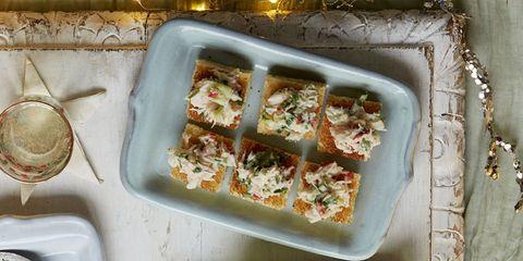 christmas canapes crab