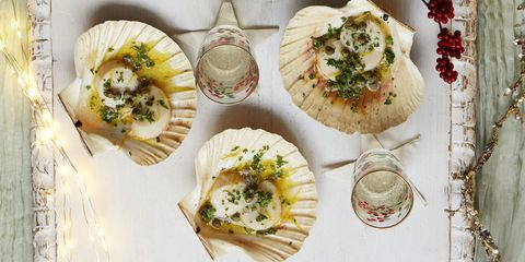christmas canapes scallops
