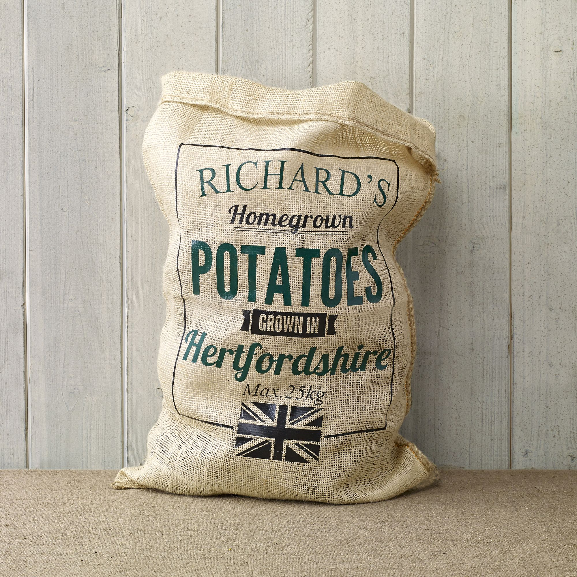 """<p>What to choose for your green-fingered friend who has everything? Personalise this hessian vegetable sack with a name, vegetable and location to take their gardening pastime to an impressive level of gravitas. </p><p>Choose from two designs. </p><p><strong data-redactor-tag=""""strong"""">Personalised Hessian Vegetable Sack, Able Labels, £15</strong><span class=""""redactor-invisible-space"""" data-verified=""""redactor"""" data-redactor-tag=""""span"""" data-redactor-class=""""redactor-invisible-space""""><strong data-redactor-tag=""""strong"""">. </strong><a rel=""""noskim"""" href=""""http://www.notonthehighstreet.com/ablelabels/product/personalised-hessian-vegetable-sack?utm_source=Country_Living&utm_medium=partnership&utm_content=Web&utm_campaign=Giftlikeaneditor"""" target=""""_blank""""><strong data-redactor-tag=""""strong"""">Order here.</strong></a></span><br></p>"""