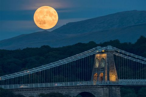 Supermoon in Anglesey, Wales