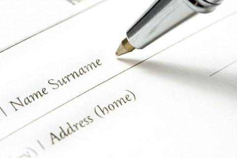 surname pen form