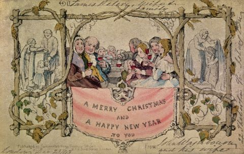 First Christmas Card.A 5 Step Fascinating History Of Christmas Cards
