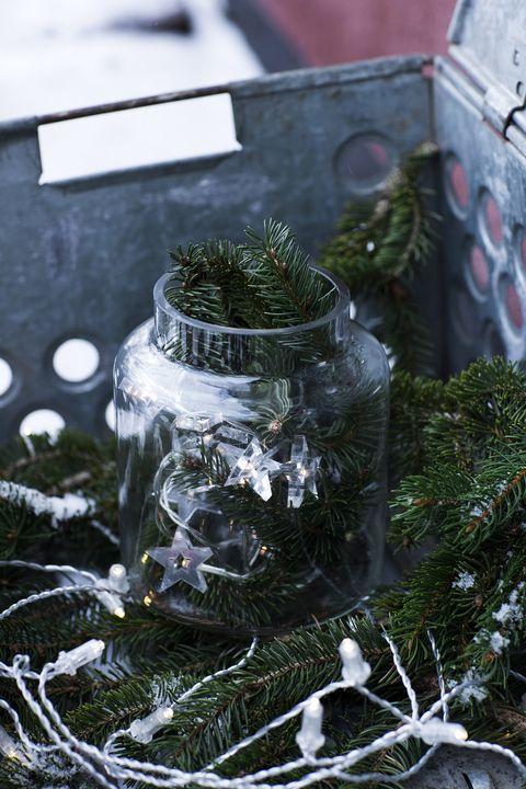 winter christmas jar decoration lights