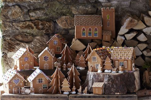 gingerbread house village christmas
