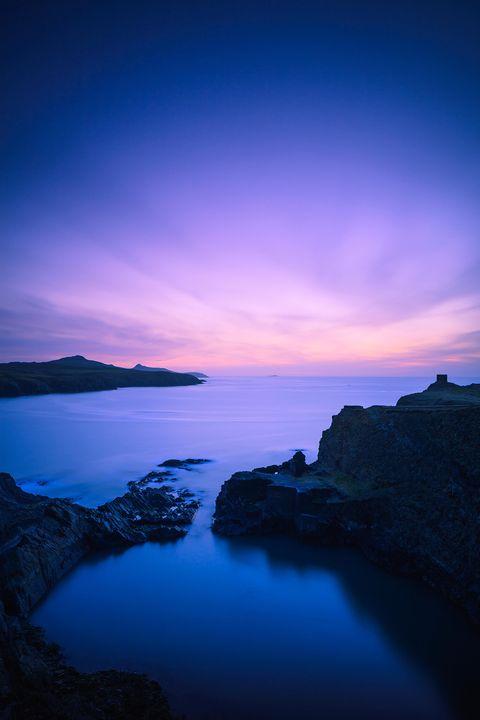 blue lagoon st davids pembrokeshire wales