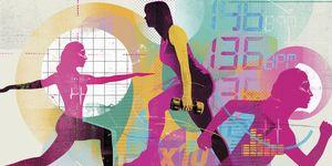 women exercising art